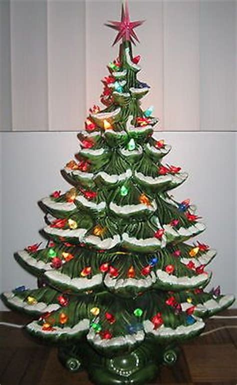 21 atantic mold flocked ceramic christmas tree 17 best images about on trees snow and green