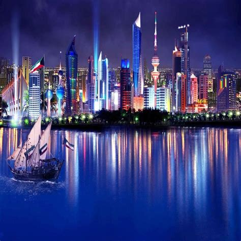 wallpaper for walls kuwait kuwait skyline apple ipad air wallpaper places i d