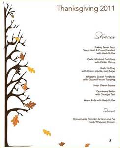 thanksgiving menue thanksgiving menu giveaway centsational