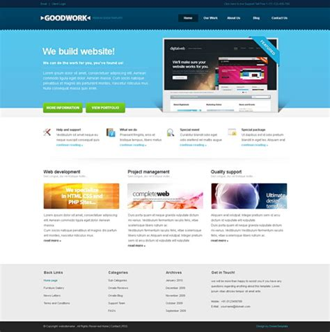 template html goodwork html template corporate css templates css