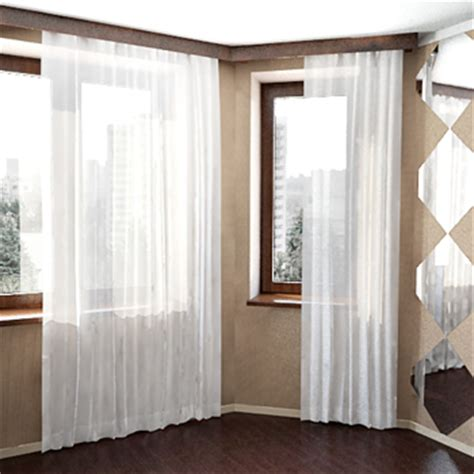 model home curtains windows with white curtains 3d model 3d model download
