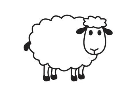 simple sheep coloring page animales para colorear y pintar ovejas de granja