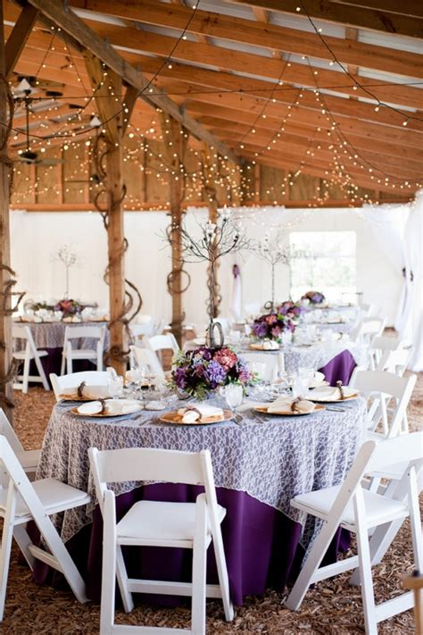 purple rustic chic wedding   detail