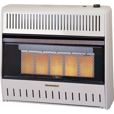 procom radiant vent free heater procom vent free dual fuel radiant wall heater 30 000