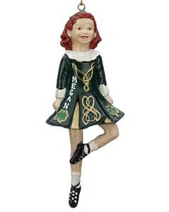 In traditional irish dress christmas ornament personalized christmas