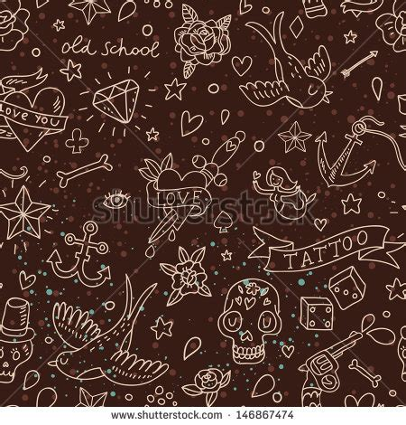 seamless pattern tattoo stock images royalty free images vectors shutterstock