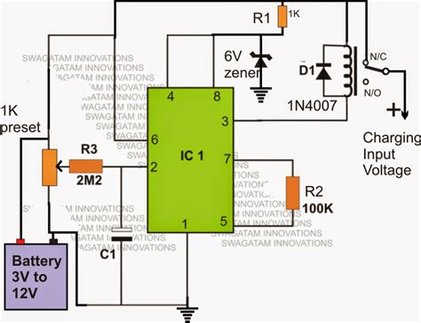 lithium ion battery charger circuit li ion battery charger circuit using ic 555