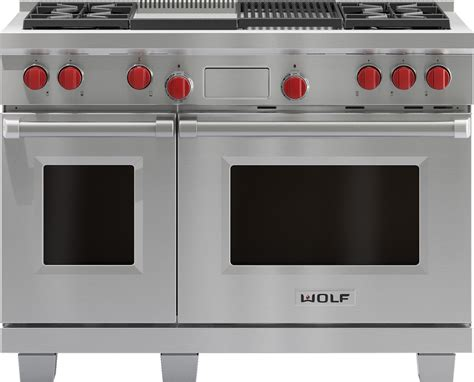 induction cooker e8 error wolf df484cg 48 inch pro style dual fuel range with 4 dual stacked sealed burners 4 5 cu ft