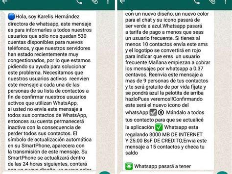 cadenas falsas por whatsapp hola soy karelis hern 225 ndez la falsa cadena de whatsapp