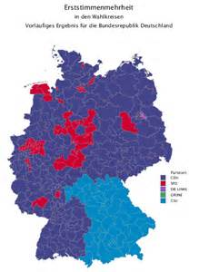 German Election Map by German Election Spot The Berlin Wall The World