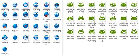 emoticons android changing the smileys of a samsung galaxy s iii running