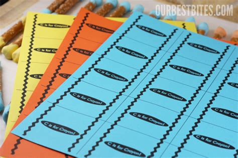 crayon label template crayon label template printable label templates