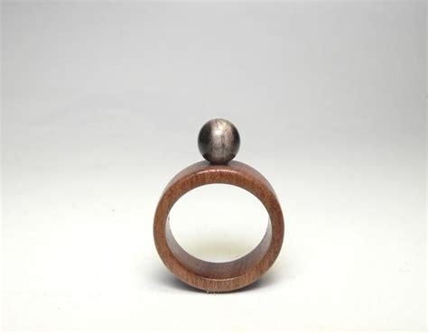 beaded ring womens wood horn band handmade band antique