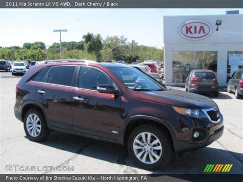 Kia Sorento Cherry Cherry 2011 Kia Sorento Lx V6 Awd Black Interior