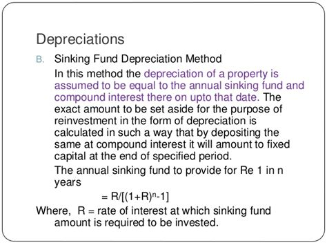 Sinking Fund Method Of Depreciation With Exle by Chapter 13 Valuation