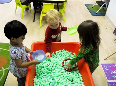 sensory table ideas are used for preschool interior