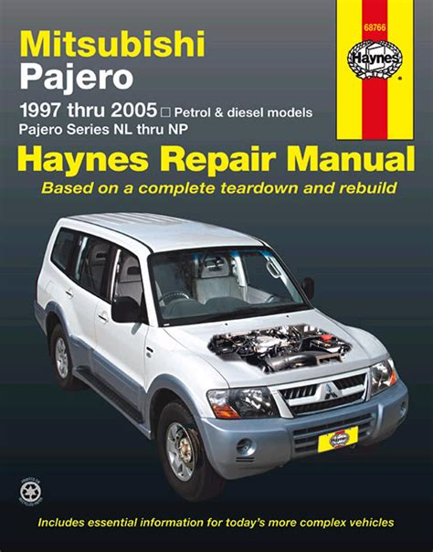 how to download repair manuals 1987 mitsubishi pajero head up display haynes repair manual australian mitsubishi pajero 1997 2005 petrol diesel engine ebay