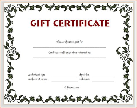blank gift certificate template blank gift certificate book gift ftempo