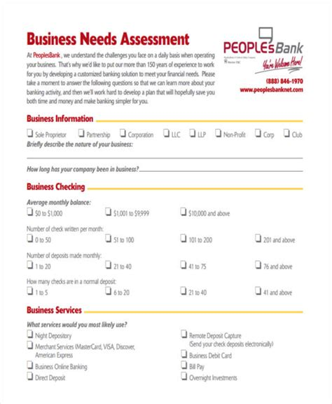 financial needs analysis template free 19 needs assessment form templates free premium templates