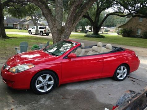How Much Is A Toyota Solara Buy Used 2006 Toyota Solara Sle Convertible In New Iberia
