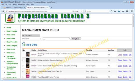 Software Aplikasi Perpustakaan 30 Untuk Sekolah Kantor Pribadi bunafit komputer menjual source code program software