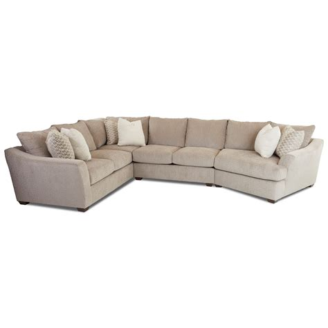Klaussner Sofa Uk by Klaussner Pinecrest Pinecrest Sectional With Raf Cuddler