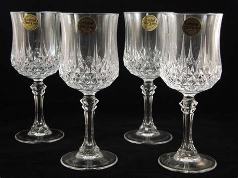 lead crystal barware genuine lead crystal 4 longch glasses wine glasses by