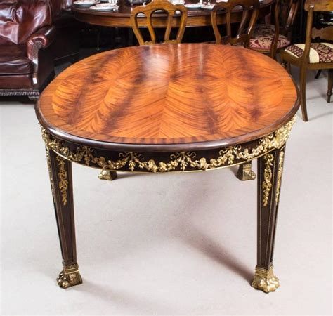 Antique Mahogany Dining Table And Chairs Antique Mahogany Ormolu Dining Table And Ten Chairs At 1stdibs