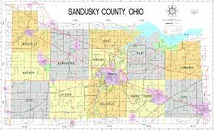 Fremont Ohio Map by Map Of Sandusky County