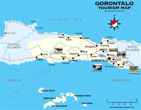 gorontalo map celebes peta gorontalo sulawesi
