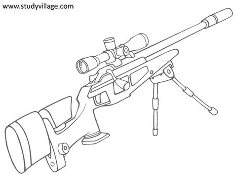 coloring pages of military guns of weapons colouring pages