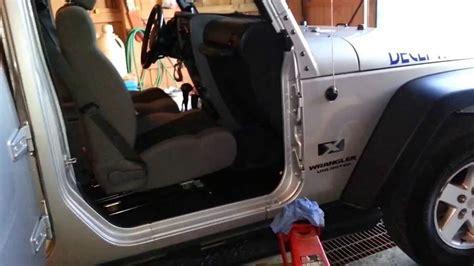 How To Remove Jeep Doors Jeep Wrangler Doors Seized How To Free Doors Remove