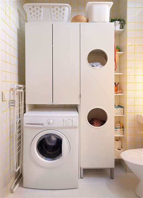 Laundry Room Cabinets Ikea Ikea Lill 197 Ngen Laundry Cabinet White Laundry Pinterest Coins Bathroom Laundry And