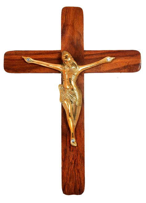 jesus christ cross with statue wooden crucifix wall cross