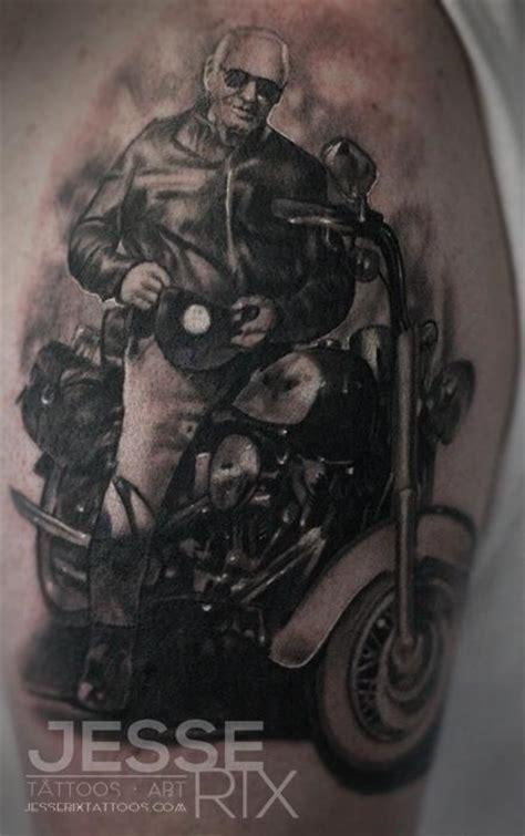 black and grey harley tattoos jesse rix tattoos tattoos black and gray harley