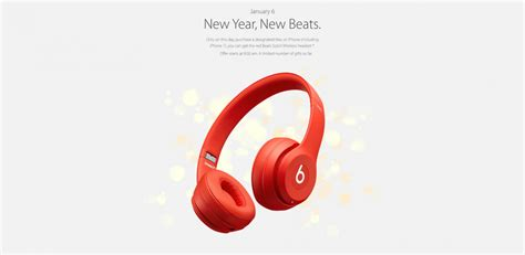 apple new year apple are giving away beats headphones to celebrate