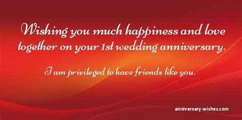 1st wedding anniversary wishes for friend first anniversary wishes happy 1st anniversary messages