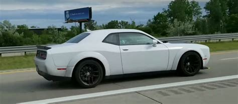 widebody hellcat white 2018 dodge challenger srt hellcat widebody spotted in the