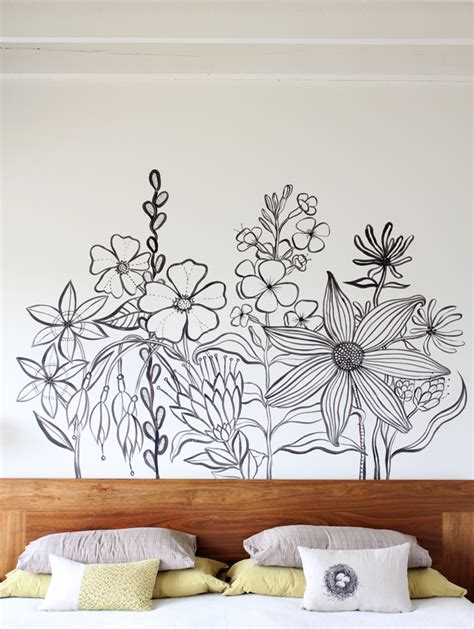hand painted wall design paint pinterest powder flower mural pictures photos and images for facebook