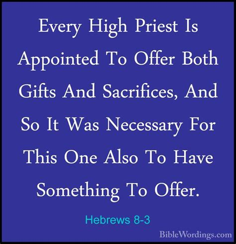 necessary sacrifices a novel in the alastair chronicles volume 12 books hebrews 8 3 every high priest is appointed to offer both