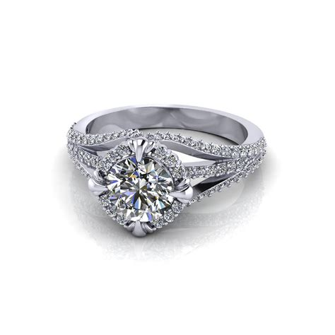 Eheringe Unikate by Unique Halo Engagement Ring Jewelry Designs