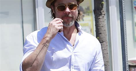 brad pitt tattoo brad pitt gets in honor of six