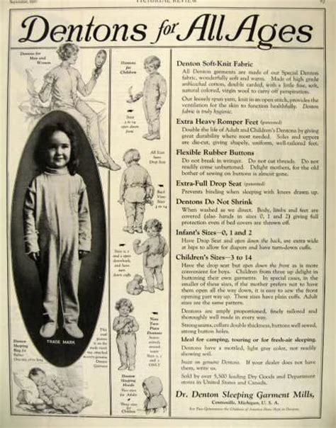 1927 dr denton rompers ad for all ages vintage clothing amp accessory ads
