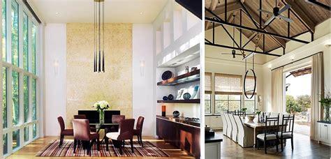 consejos  decorar  comedor  techos altos
