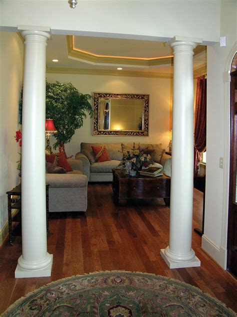 Pictures Of Columns In Living Room by Ranch House Plan Living Room Photo 01 Plan 016d 0065 House Plans And More