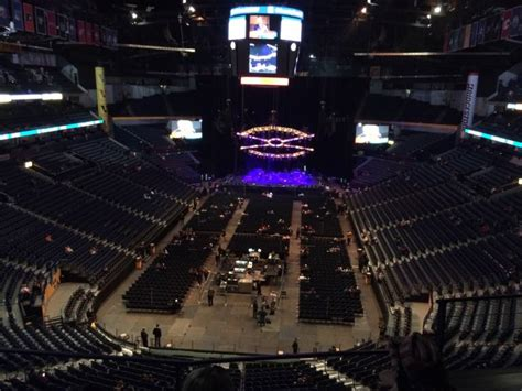 Phillips Arena Concert Floor Tickets Vs Section 102 by Bridgestone Arena Section 301 Row C Seat 3