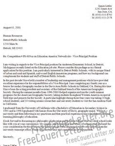Cover Letter For Principal Position by Vice Principal Cover Letter Sle