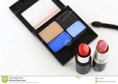 Eyeshadow Tude eyeshadow and lipstick stock photo image 57547591