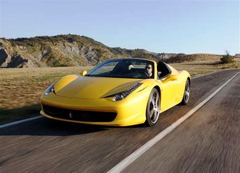 ferrari yellow 458 ferrari 458 spider yellow colour car pictures images