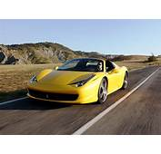 Ferrari 458 Spider Yellow Colour  Car Pictures Images